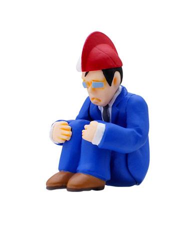 平社員(紅白帽)