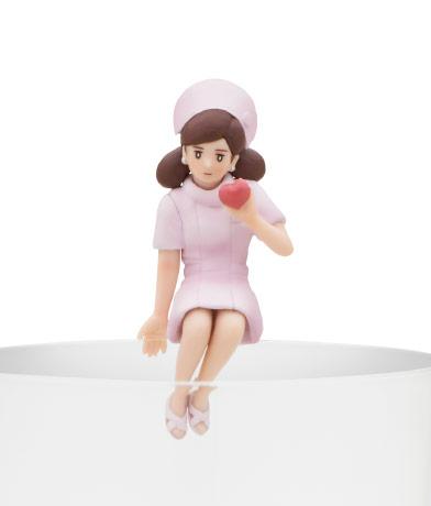 ハートのフチ子(ピンク)