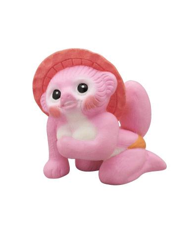 ピンクのメスだぬき