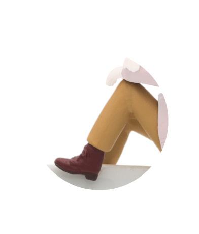 編み上げブーツ(ブラウン)