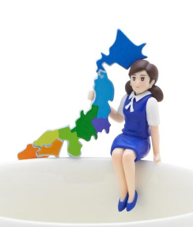 日本列島のフチ子