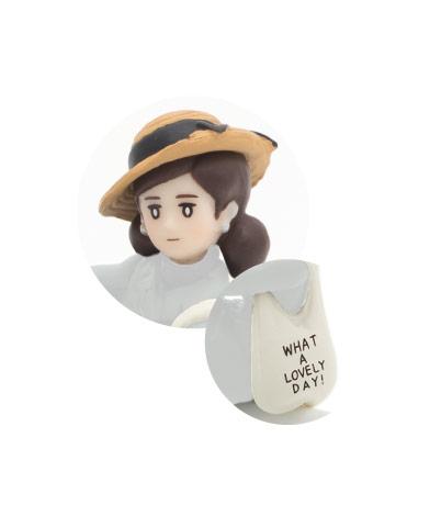 キャベリン帽(ブラウン)&トートバッグ(アイボリー)