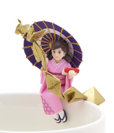 折り鶴のフチ子