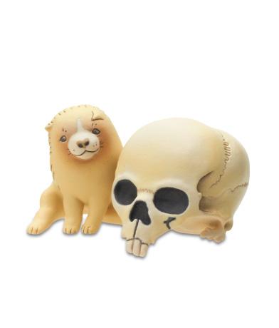 髑髏と子犬(「髑髏子犬」より)