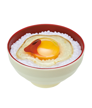 醤油がけ生たまご(白茶碗)