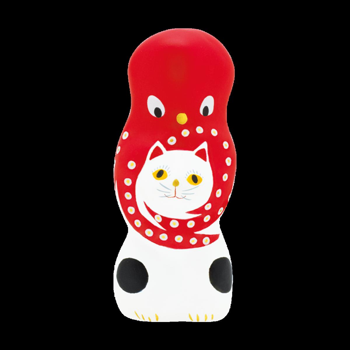 猫に蛸(白)